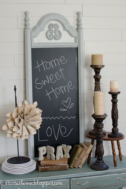 Mirror turned Chalkboard DIY