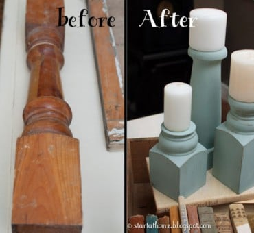 Balusters Turned Candle Holders