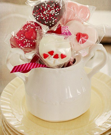 Happy Valentines! Chocolate Dipped Marshmallows