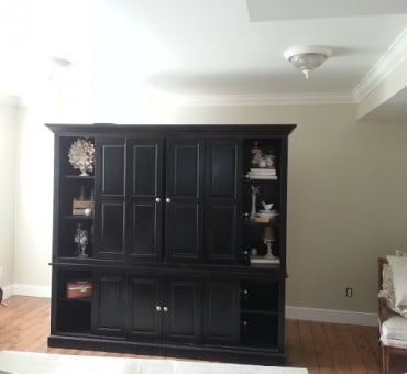Wainscoting in the Family Room and a Tutorial