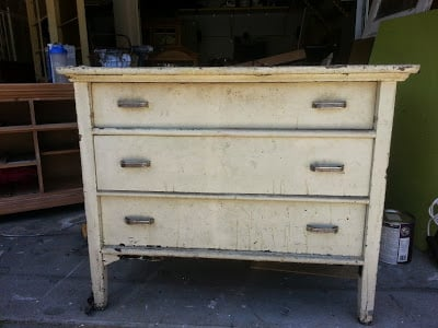 Lead Based Paint Chest Flipped to Hand Painted Chest