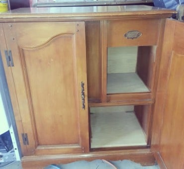 The French Provincial Record Player Turned Storage Cabinet
