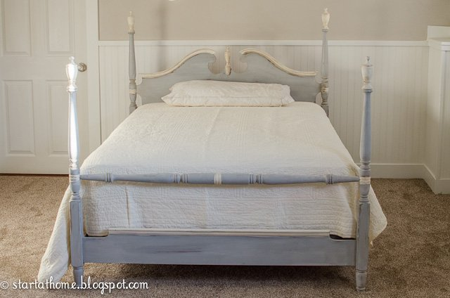 Refinished vintage beds start at home decor for Starter bed