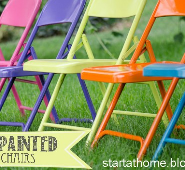 Ugly Metal Folding Chairs?!?!  I think NOT!!!