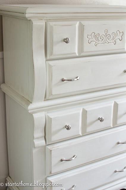 DIY White Dresser Makeover