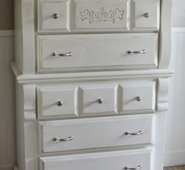 From Red to White…….this Dresser Got a Beautiful Makeover