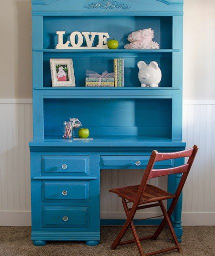 Bright and Cheery Desk Makeover