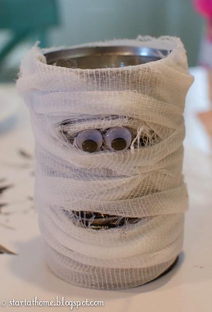 Halloween Tin Can