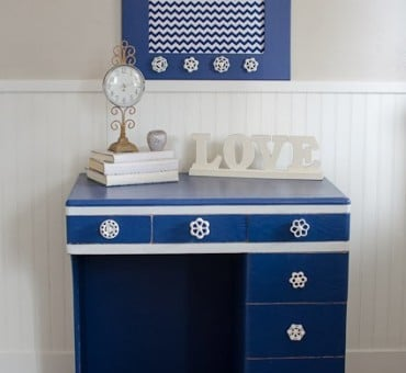Navy Blue Desk!