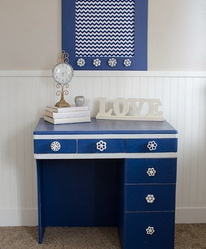 navy blue desk. Navy Blue Desk! Desk