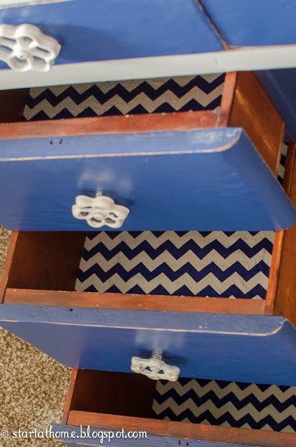 Navy Blue desk furniture refinish