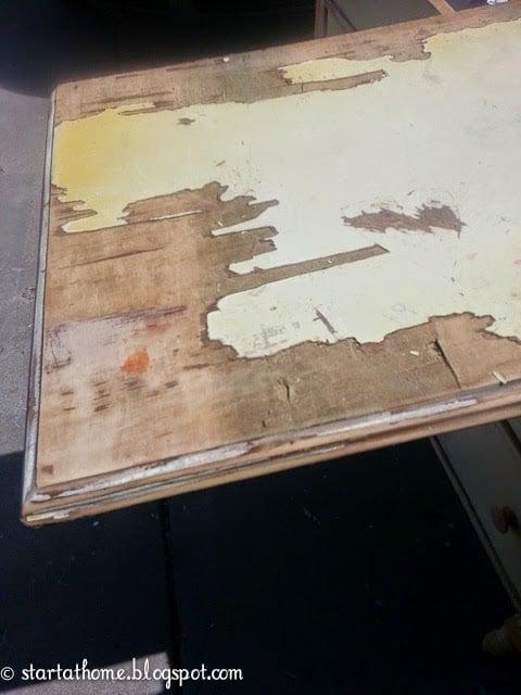 Wood repair for dresser