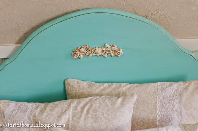 Teal headboard applique