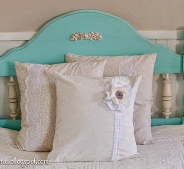DIY Teal Headboard