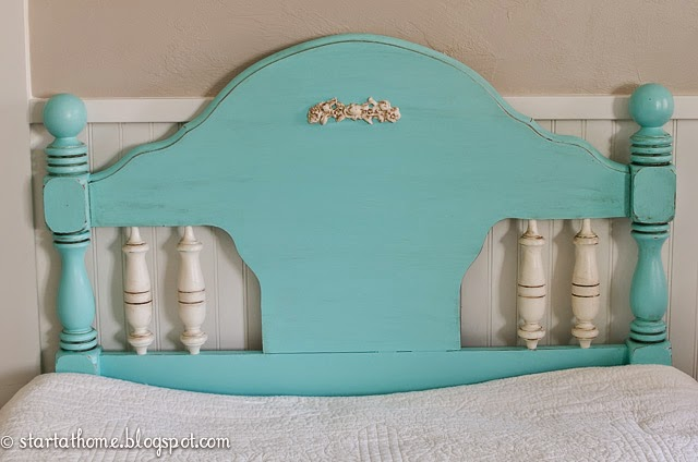 create a teal headboard