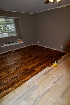 Installing pine plank flooring