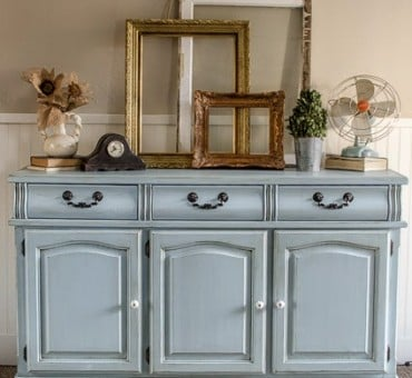 Refinished Blue Dresser....
