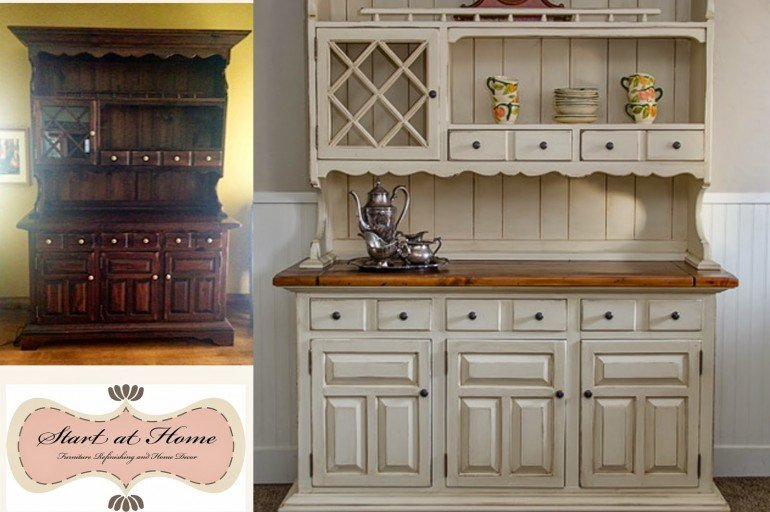 A Beautiful Hutch Makeover!