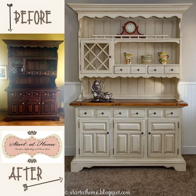 A Beautiful Hutch Makeover Start At Home Decor