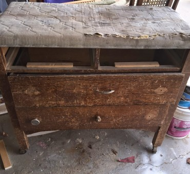 Vintage Dresser Turned Bench
