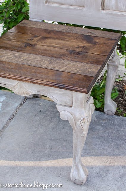 DIY refinished side table