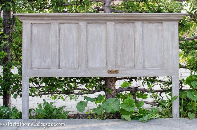 Turn your old door into a headboard!