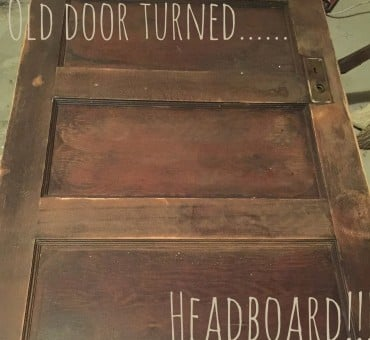 Old Door Turned Headboard!