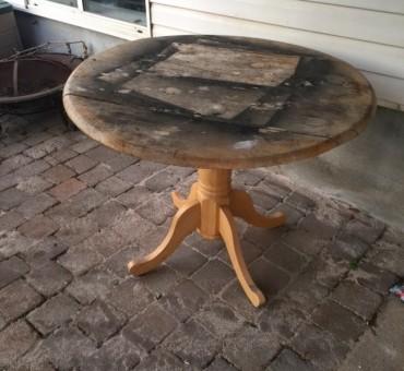 Refinished Pedastal Table
