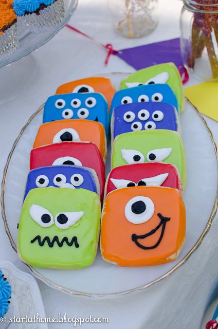 Party themed monster cookies