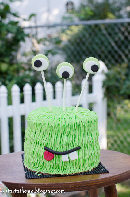 Birthday Party Monster Cake