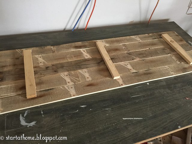 Create a pallet top table using reclaimed wood