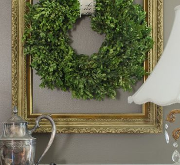 Preserve and Make a Boxwood Wreath on a Budget
