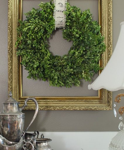 Preserve and Make a Boxwood Wreath on a Budget
