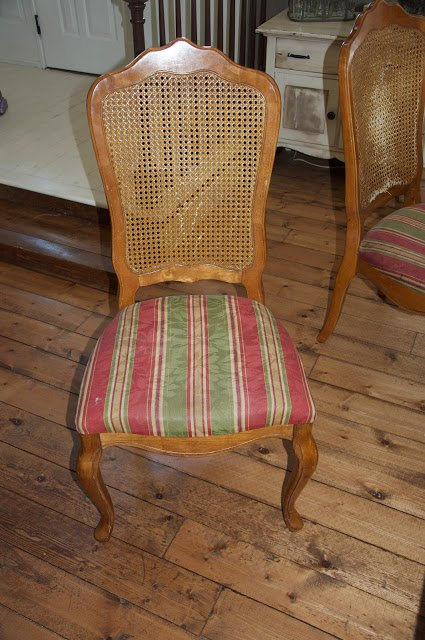DIY Upholstered French Chair and a Pleated Skirt