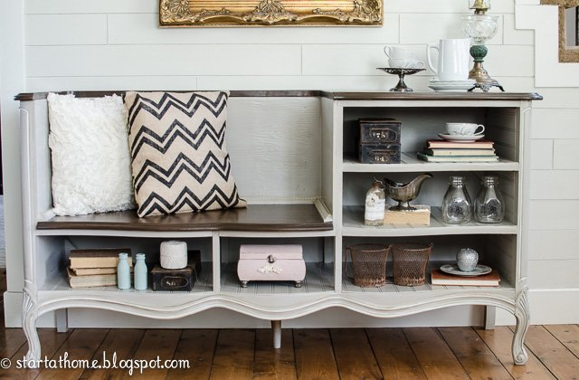 French dresser turned bench DIY