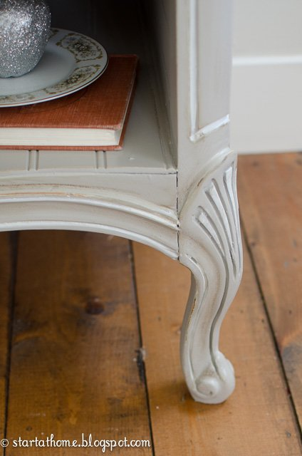Details of french dresser turned bench