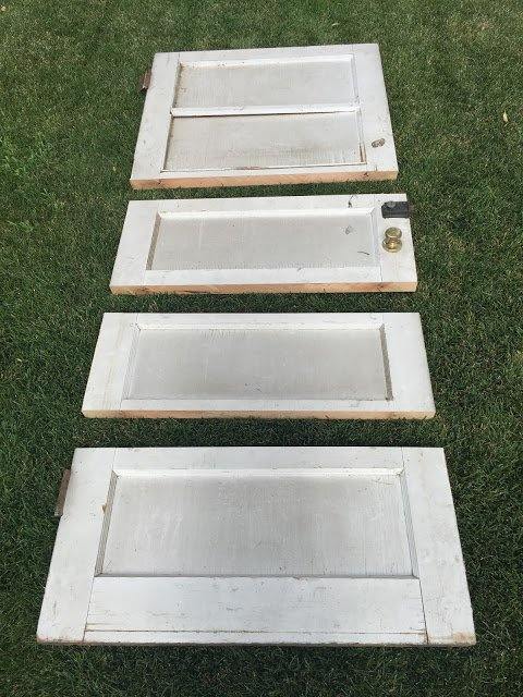 DIY Old Door Turned Shelf