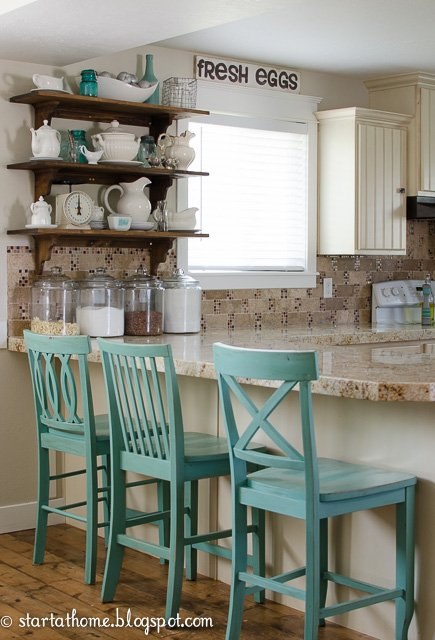Diy kitchen open shelves start at home decor for At home accents
