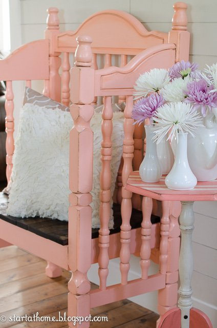 Crib Turned Bench Tutorial | Start at Home Decor