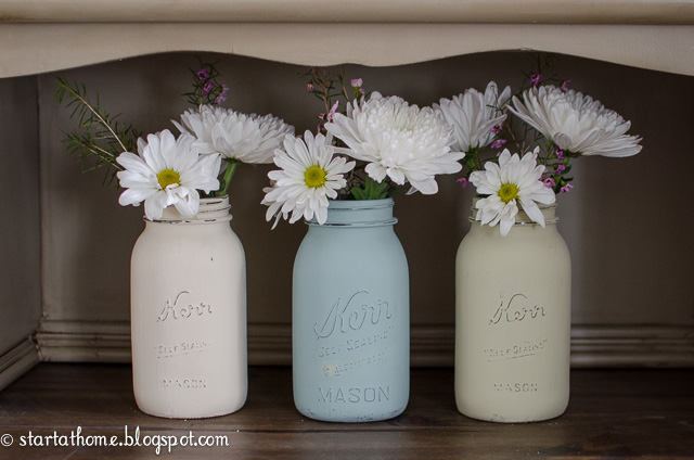 Low Cost High Impact Decorating Tips to Make a Statement - Painted Jars