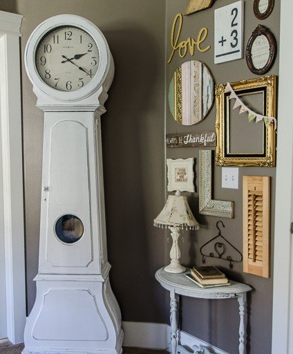 DIY Painted Clock and a Gallery Wall