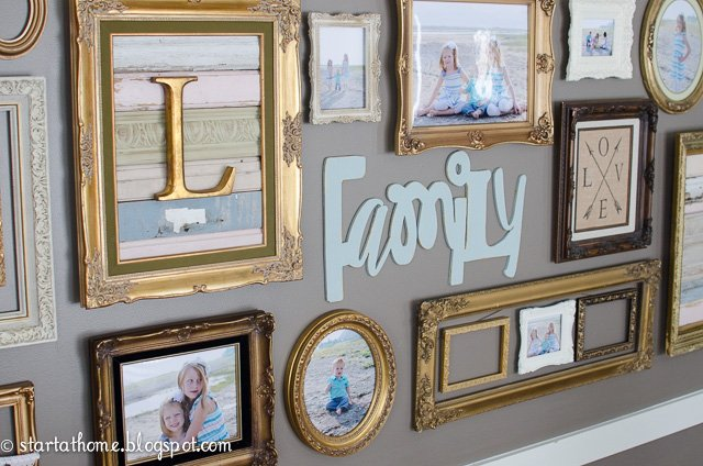 Start at home | Gallery Wall Round Up | Frames | Letters | Gold frames