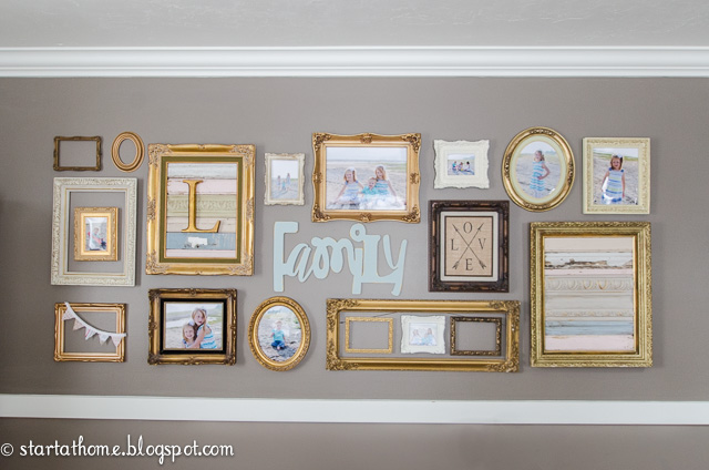 My new gallery wall start at home decor - Wall gallery frame set ideas ...