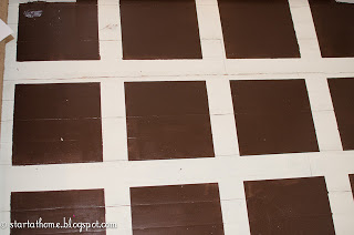 DIY Painted Floors -tile pattern