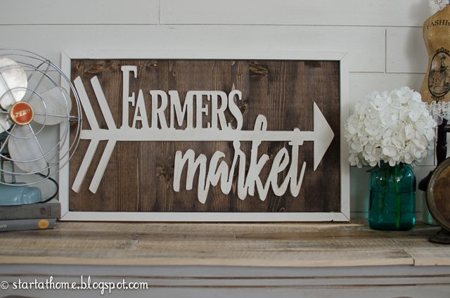 Farmers Market Sign Start At Home Decor