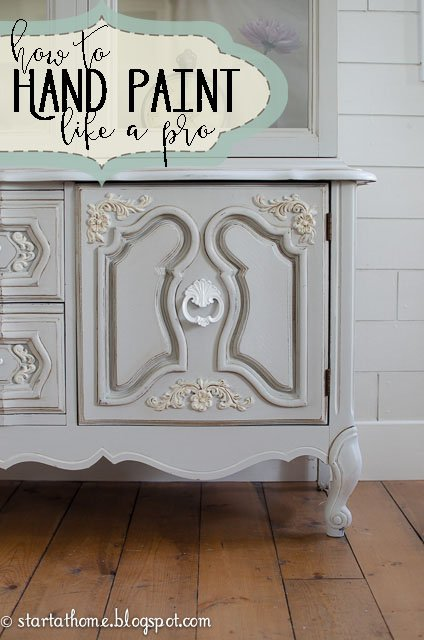 How To Hand Paint Furniture with Latex Paint