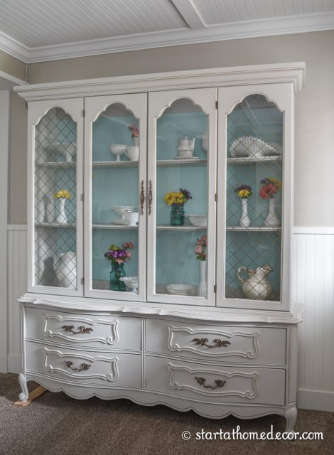Refinished French Hutch