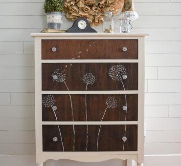 Dandelion Hand Painted Dresser
