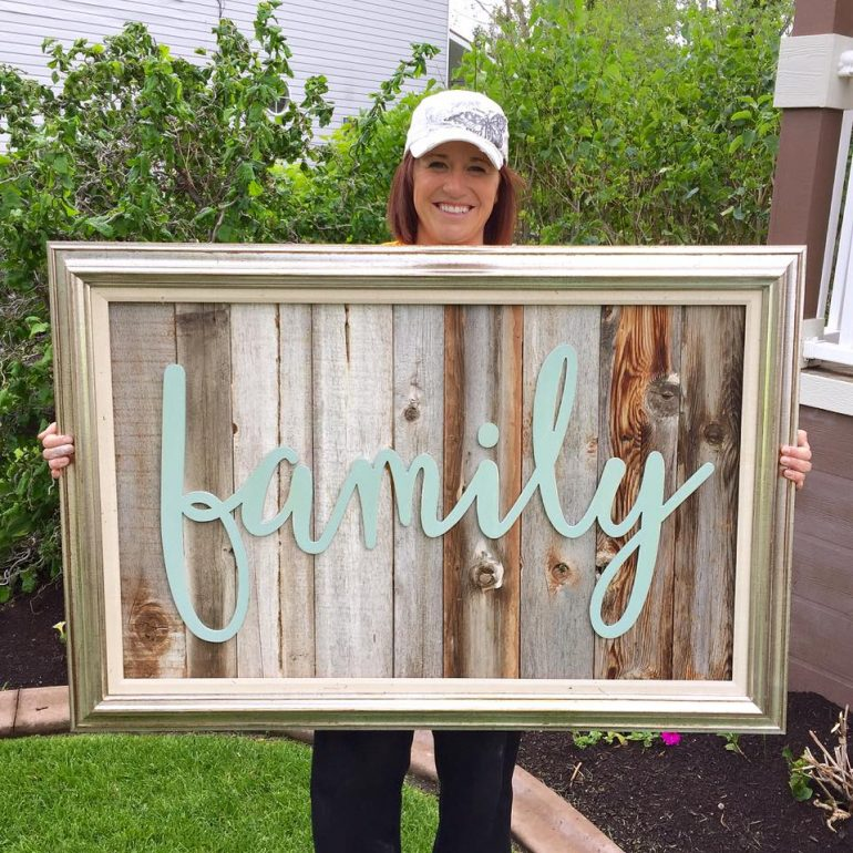 how to make barn wood signs