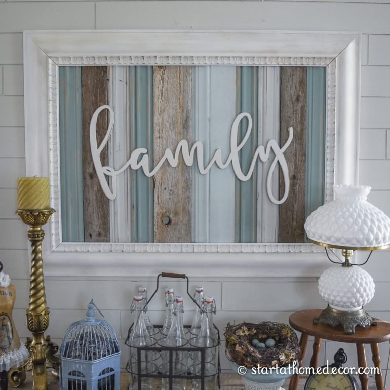 Reclaimed wood signs start at home decor for I sign decoration